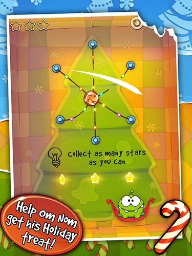 Kostenloses Android-Game Cut the Rope: Holiday Gift. Vollversion der Android-apk-App Hirschjäger: Die Cut the rope: Holiday gift für Tablets und Telefone.