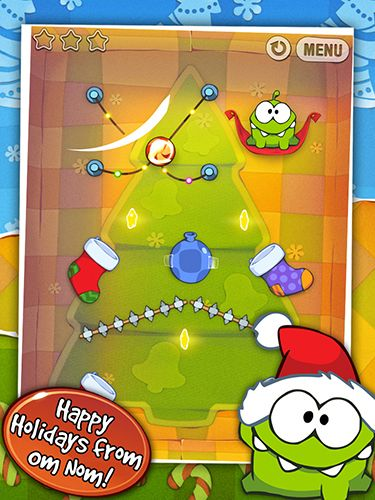 Cut the rope: Holiday gift für Android spielen. Spiel Cut the Rope: Holiday Gift kostenloser Download.