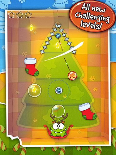 Capturas de pantalla de Cut the rope: Holiday gift para tabletas y teléfonos Android.
