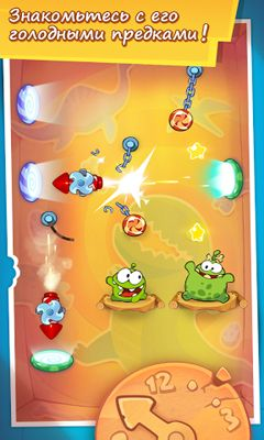Kostenloses Android-Game Cut the Rope: Zeitreise. Vollversion der Android-apk-App Hirschjäger: Die Cut the Rope Time Travel HD für Tablets und Telefone.