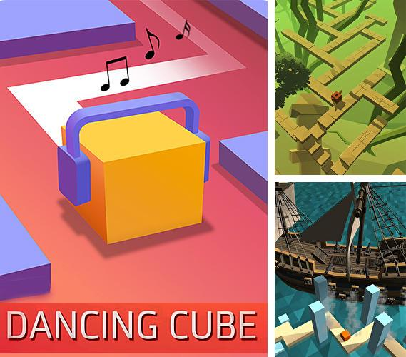 Dancing cube: Line jump. Tap tap music world tiles