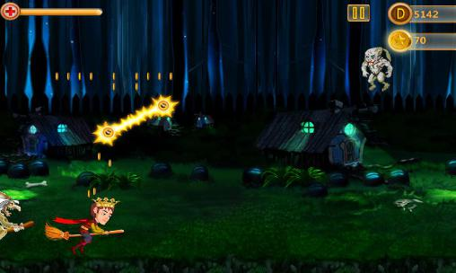 Screenshots von Dark night avenger: Magic ride für Android-Tablet, Smartphone.