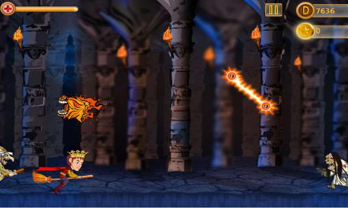 Геймплей Dark night avenger: Magic ride для Android телефону.
