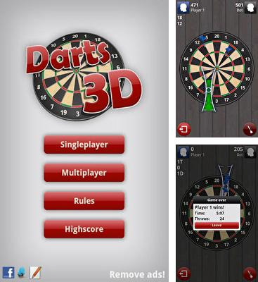 In addition to the game Darts for Android phones and tablets, you can also download Darts 3D for free.