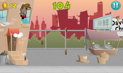 Screenshots of the Dave & Chuck's Kick-Ass Game for Android tablet, phone.