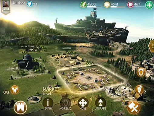 Screenshots do Dawn of titans - Perigoso para tablet e celular Android.