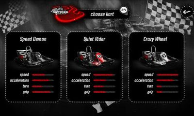 Kostenloses Android-Game Daytona Racing Karting Cup. Vollversion der Android-apk-App Hirschjäger: Die Daytona Racing Karting Cup für Tablets und Telefone.