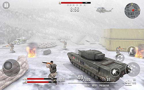 Juega a Deadly assault 2018: Winter mountain battleground para Android. Descarga gratuita del juego Asalto mortal 2018: Campo de batalla de la montaña de invierno.