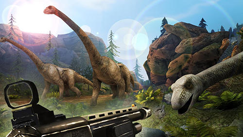 Screenshots von Deadly dino hunter: Shooting für Android-Tablet, Smartphone.