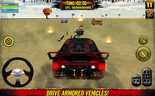Capturas de pantalla de Death race: Beach racing cars para tabletas y teléfonos Android.