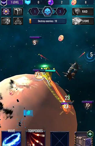 玩安卓版Deep raid: Idle RPG space ship battles。免费下载游戏。