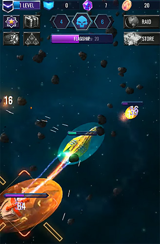 安卓平板、手机Deep raid: Idle RPG space ship battles截图。