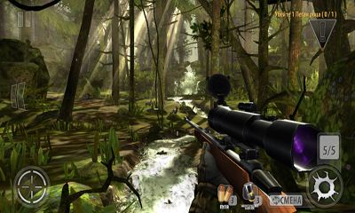 Ігровий процес Deer hunter 2014 на телефоні.