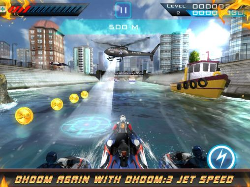 Screenshots von Dhoom: 3 jet speed für Android-Tablet, Smartphone.