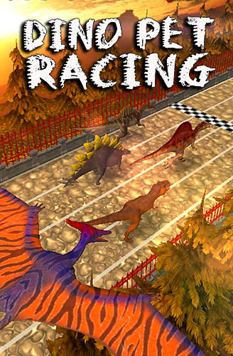 Dino pet racing game: Spinosaurus run!! poster