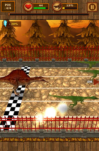 Dino pet racing game: Spinosaurus run!! screenshot 3