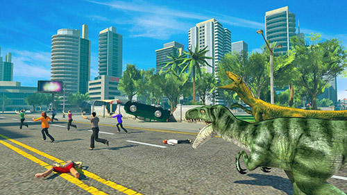 Screenshots of the Dino rampage 3D for Android tablet, phone.