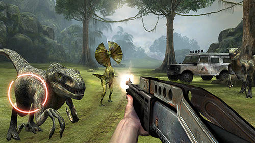 Jogue Dino VR shooter: Dinosaur hunter jurassic island para Android. Jogo Dino VR shooter: Dinosaur hunter jurassic island para download gratuito.