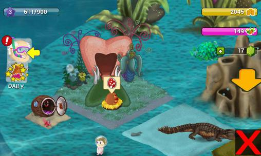 Screenshots von Dino water world für Android-Tablet, Smartphone.