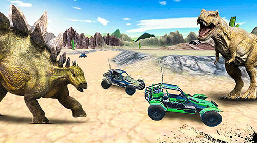 Dino world car racing скриншот 2