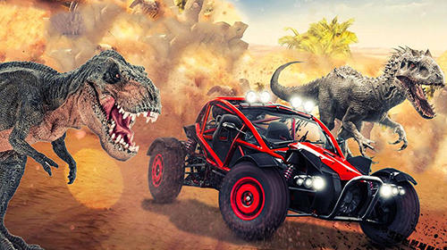 Screenshots von Dino world car racing für Android-Tablet, Smartphone.