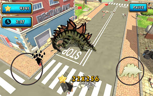 Screenshots von Dinosaur simulator 2: Dino city für Android-Tablet, Smartphone.