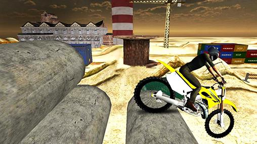 Kostenloses Android-Game Dirt Bike: Extreme Stunts 3D. Vollversion der Android-apk-App Hirschjäger: Die Dirt bike: Extreme stunts 3D für Tablets und Telefone.