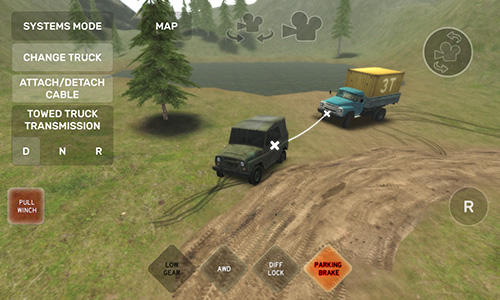 Геймплей Dirt trucker: Muddy hills для Android телефону.