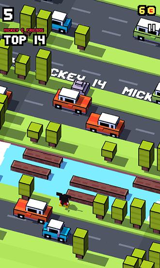 Juega a Disney: Crossy road para Android. Descarga gratuita del juego Disney: Intersección de la carretera .