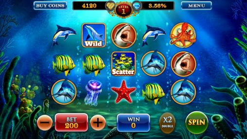 Dolphin treasures slots pokies screenshot 1