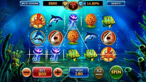 Dolphin treasures slots pokies screenshot 3