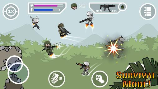 Screenshots do Doodle army 2: Mini militia - Perigoso para tablet e celular Android.