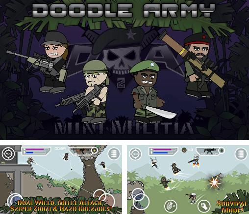 In addition to the game Doodle Army for Android phones and tablets, you can also download Doodle army 2: Mini militia for free.