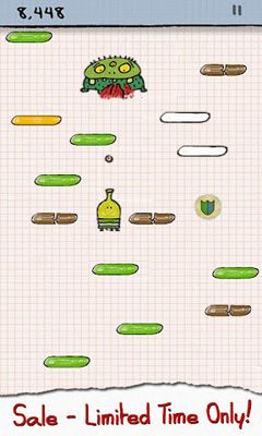 Screenshots do Doodle Jump - Perigoso para tablet e celular Android.