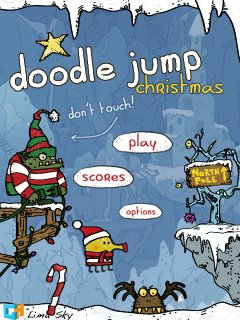 Doodle Jump Christmas poster