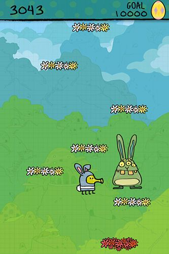 Screenshots do Doodle jump: Easter - Perigoso para tablet e celular Android.