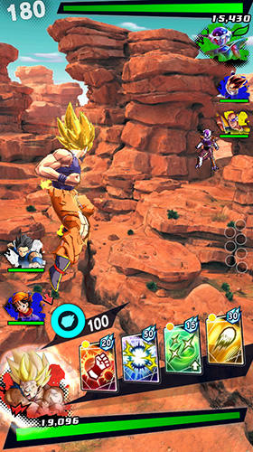 Capturas de pantalla de Dragon ball: Legends para tabletas y teléfonos Android.