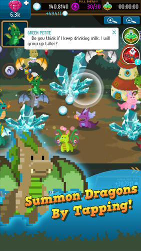 Dragon keepers: Fantasy clicker game