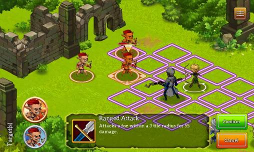 Screenshots von Dragonfall: Tactics für Android-Tablet, Smartphone.