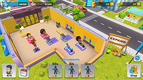 Screenshots von Dream gym: Best in town für Android-Tablet, Smartphone.
