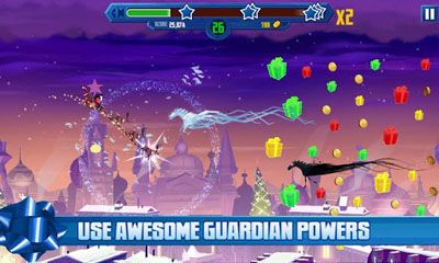 Écrans de DreamWorks Rise of the Guardians Dash n Drop pour tablette et téléphone Android.
