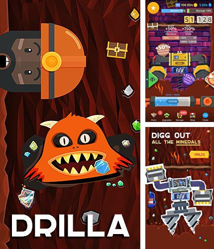 In addition to the game Tap 'n' slash for Android phones and tablets, you can also download Drilla for free.