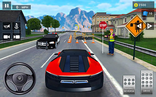 Screenshots do Driving academy 2: Drive and park cars test simulator - Perigoso para tablet e celular Android.