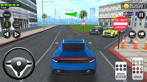 Screenshots von Driving academy: Car school driver simulator 2019 für Android-Tablet, Smartphone.