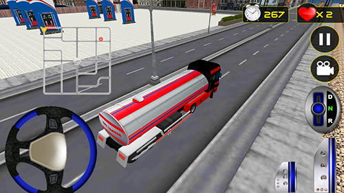 Screenshots do Driving simulator: Truck driver - Perigoso para tablet e celular Android.