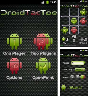 In addition to the game Five Towers for Android phones and tablets, you can also download Droid Tac Toe for free.