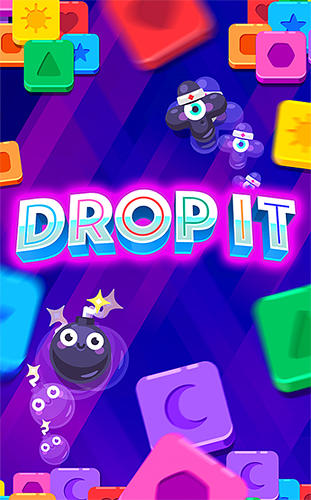 Drop it! Crazy color puzzle poster