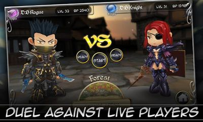 Screenshots of the Dueling Blades for Android tablet, phone.