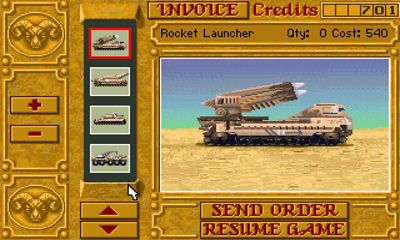 Screenshots of the Dune 2 for Android tablet, phone.