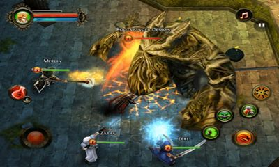 Screenshots do Dungeon Hunter 2 - Perigoso para tablet e celular Android.